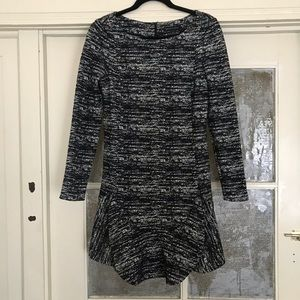 Banana republic black and white speckled dress!